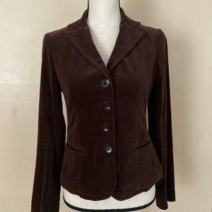 Vince brown velvet blazer.  Size 6
